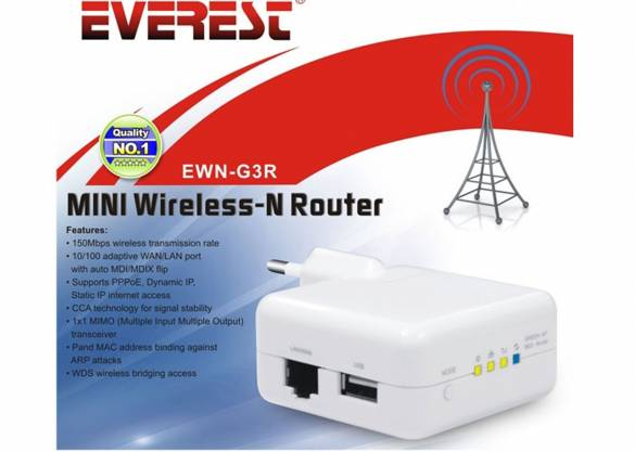 Everest EWN-G3R Usb Şarj Wireless-N 3G/AP Router - 11