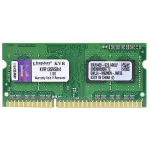 KINGSTON KVR13S9S8-4 4GB 1333MHz DDR3 Notebook Ram - 0
