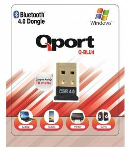 QPORT Q-BLU4 Bluetooth 4.0 USB Adaptör