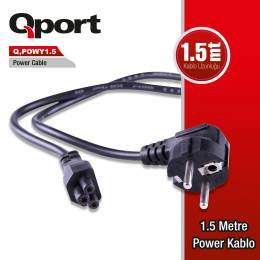 QPORT Q-POWY1_5 1.5m Notebook Power Kablosu