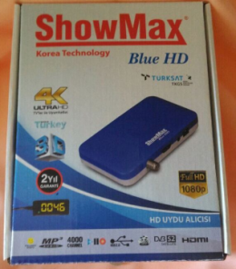 SHOWMAX blue HD digital uydu alıcısı tkgs