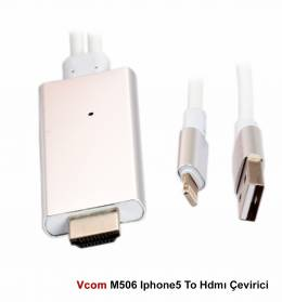 VCOM M506 İP5 (IPHONE) TO HDMI ÇEVİRİCİ